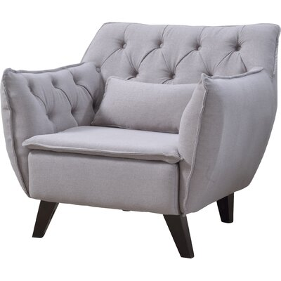 Mid Century Modern Lounge Chair Upholstery: Light Gray