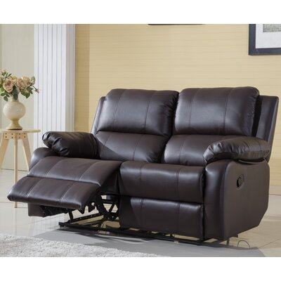 Henry Oversize Reclining Loveseat Color: Brown