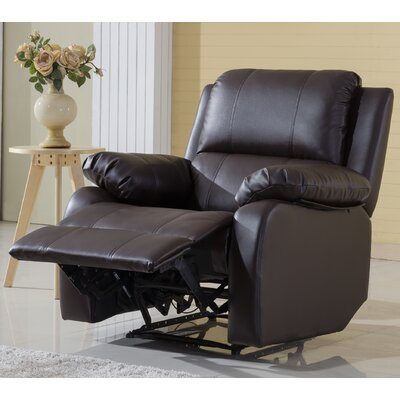 Henry Oversize Recliner Color: Brown
