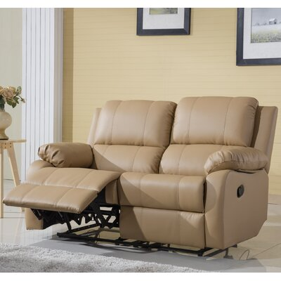 Henry Oversize Reclining Loveseat Color: Hazelnut