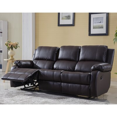 Henry Oversize Reclining Sofa Color: Brown