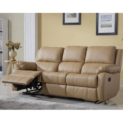 Henry Oversize Reclining Sofa Color: Hazelnut