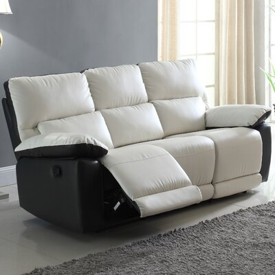 Madison Home USA REC13-3S-WH/BLK Recliner Reclining Sofa