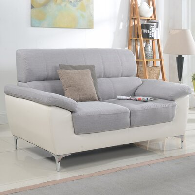 Modern Two Tone Living Room Loveseat