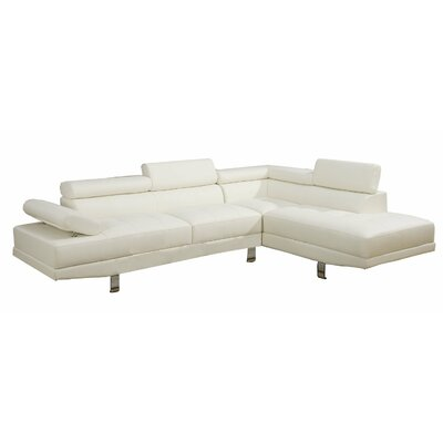 Sectional Upholstery: White