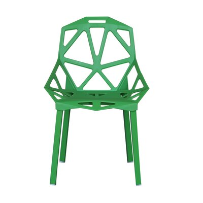 Modern Hollowed-Out Style Side Chair Finish: Green