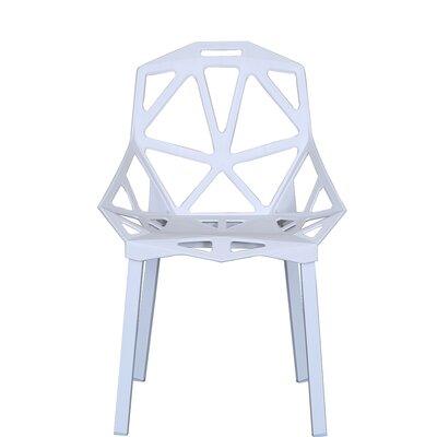Modern Hollowed-Out Style Side Chair Finish: White