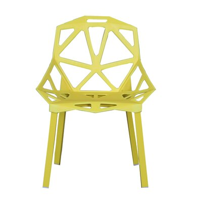 Modern Hollowed-Out Style Side Chair Finish: Yellow