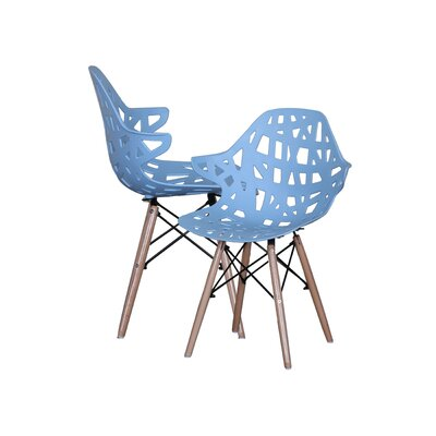 Modern Hollow-Out Style Side Chair Finish: Sky Blue