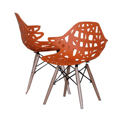 Modern Hollow-Out Style Side Chair Finish: Orange