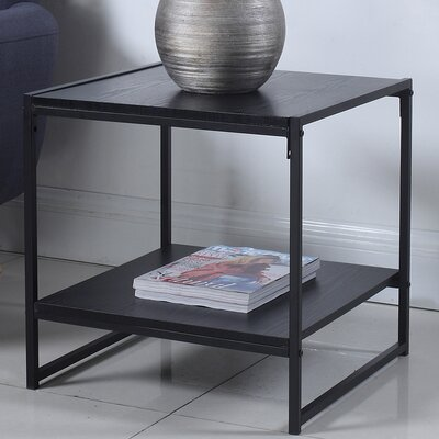 Square End Table Finish: Black