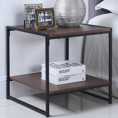 Square End Table Finish: Brown
