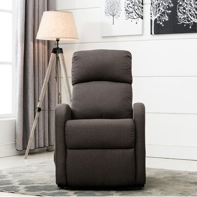 Classic Plush Power Large Infinite Position Lift Chair Upholstery: Dark Gray
