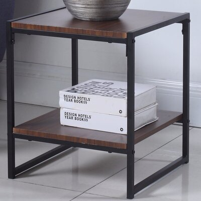 Square End Table Color: Brown