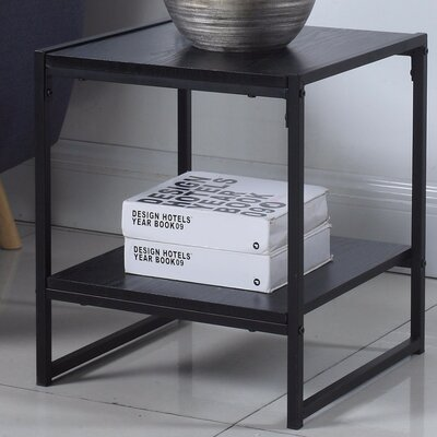 Square End Table Color: Black