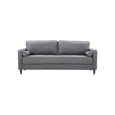 Mid-Century Modern Linen Fabric Living Room Sofa Upholstery: Light Gray