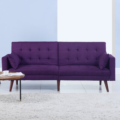 Convertible Sofa Upholstery: Purple