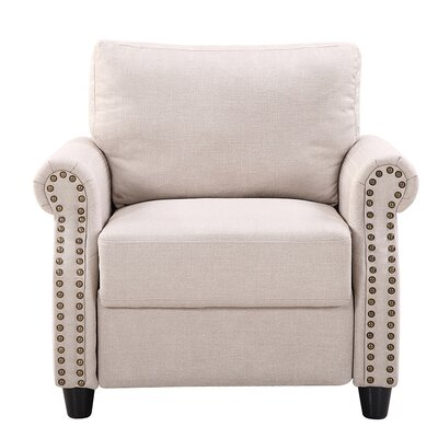 Arm Chair Upholstery: Beige