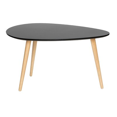 Mid Century Modern End Table Finish: Black