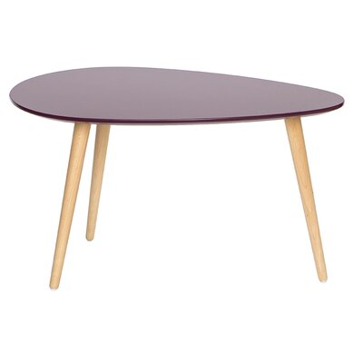 Mid Century Modern End Table Color: Purple