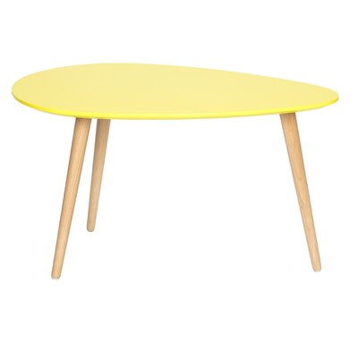 Mid Century Modern End Table Color: Yellow