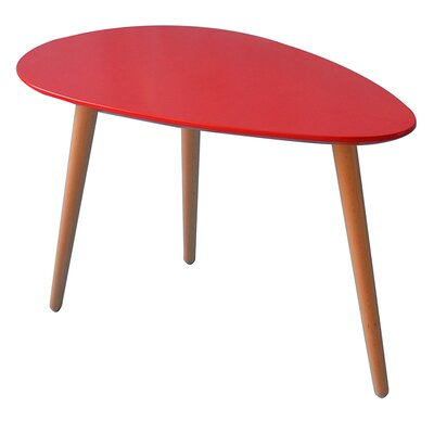 Mid Century Modern End Table Finish: Red
