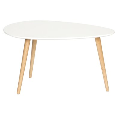 Mid Century Modern End Table Color: White