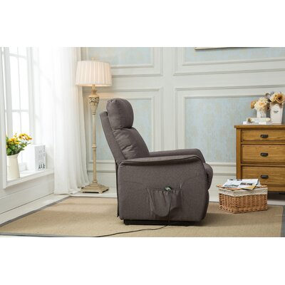 Classic Plush Power Large Infinite Position Lift Chair Upholstery: Light Gray