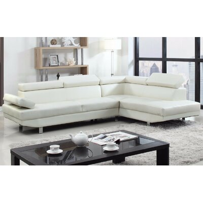 Reclining Sectional Upholstery: White