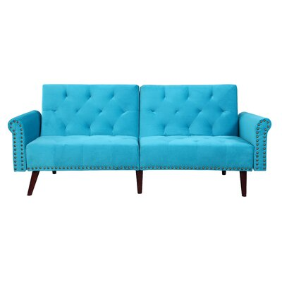 Convertible Sofa Upholstery: Blue