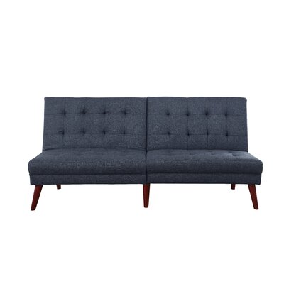 Modern Tufted Convertible Sofa Upholstery: Dark Gray