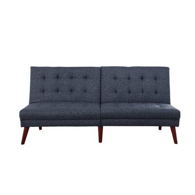 Modern Tufted Convertible Sofa Upholstery: Dark Gray