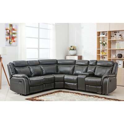 Classic Large Reclining Corner Sectional Upholstery: Gray