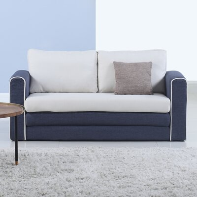 Sleeper Sofa Upholstery : Blue/Beige