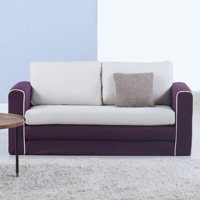 Sleeper Sofa Upholstery : Purple/Beige