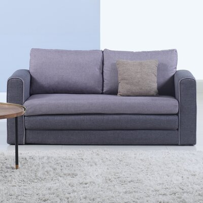 Sleeper Sofa Upholstery : Gray/Dark Gray