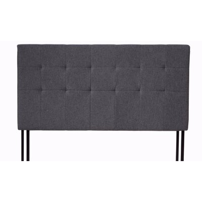 Classic Tufted Upholstered Panel Headboard Size: King