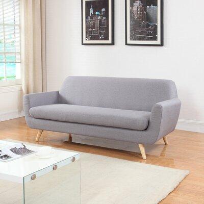 Mid-Century Sofa Upholstery: Light Gray