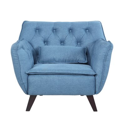 Mid Century Modern Lounge Chair Upholstery: Blue
