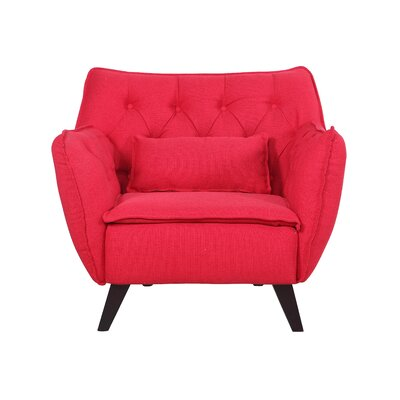 Mid Century Modern Lounge Chair Upholstery: Red