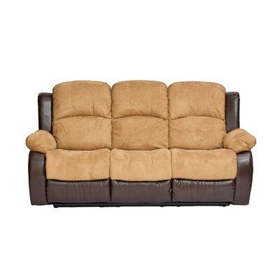 Traditional 2 Tone Recliner Reclining Sofa Upholstery: Hazelnut