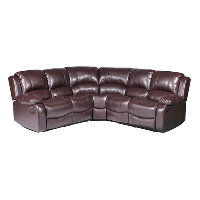 Clatterbuck Reclining Sectional Upholstery: Brown