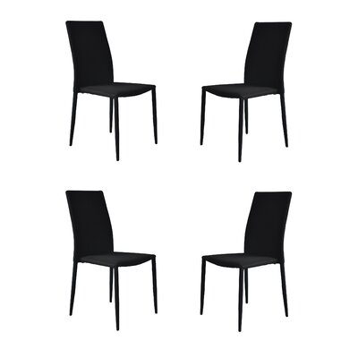Modern Casual Parsons Chair Upholstery: Black