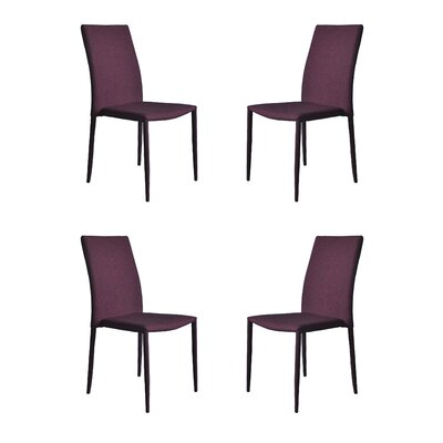 Modern Casual Parsons Chair Upholstery: Purple