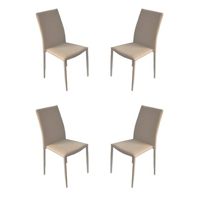 Modern Casual Parsons Chair Upholstery: White