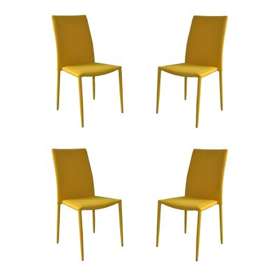 Modern Casual Parsons Chair Upholstery: Yellow