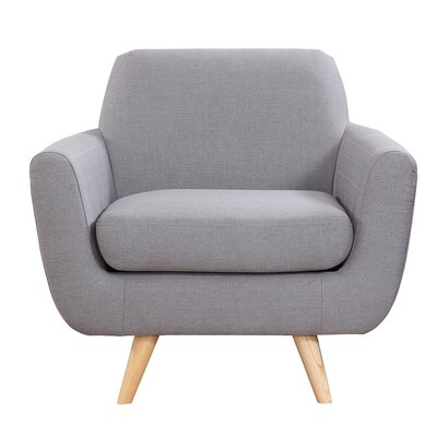 Mid-Century Modern Accent Armchair Upholstery: Light Gray