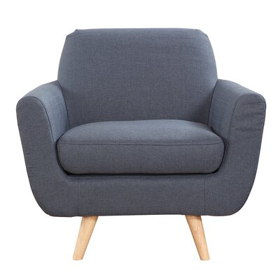 Mid-Century Modern Accent Arm Chair Upholstery: Dark Gray