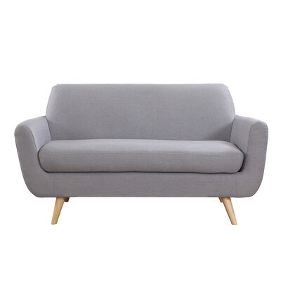 Mid-Century Loveseat Upholstery: Light Gray
