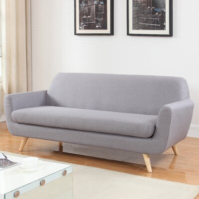 Mid-Century Sofa Upholstery: Light Gray